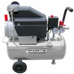 Компрессор FORTE FL-2T24  (1.5 кВт, 200 л/мин, 24 л), фото 2
