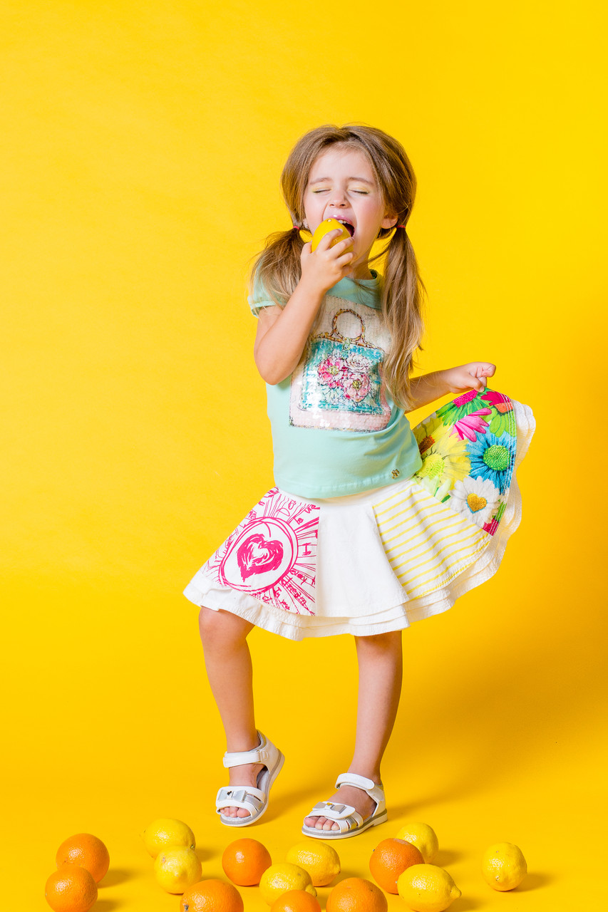 Детские юбки для девочки Desigual Испания 41F3116 Белый