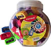Точилка пластиковая одинарная TICTOCK