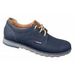 Замшевые мужские туфли  классические  40-45 синий флотар