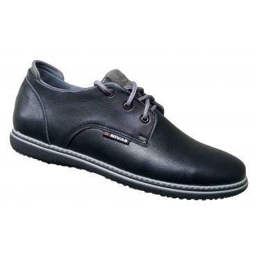 Мужские кожаные туфли классические   40-46 чёрный тайфун