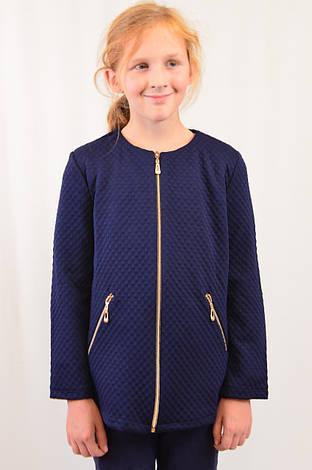 Красивый подростковый кардиган с карманами на девочку для школы р.128-152, фото 2