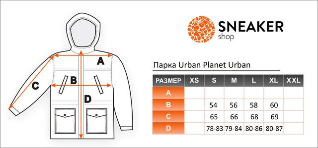 Размерная сетка парки Urban Planet Urban