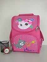 Рюкзак школьный Кошка для девочек спинка ортопедическая размер 37х25х15