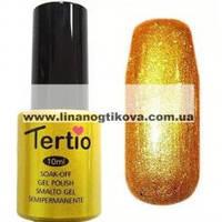 Гель лак Tertio 21 (золотистый с микроблеском) 10 мл