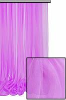 Легкая прозрачная ткань Органза с утяжелителем внизу , лиловый