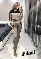 Женский спортивный костюм 301 весна-осень (42-44, 44-46) (цвет капучино) СП