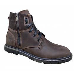 Ботинки мужские зимние  на меху  40-45 коричневый крейзи+нубук
