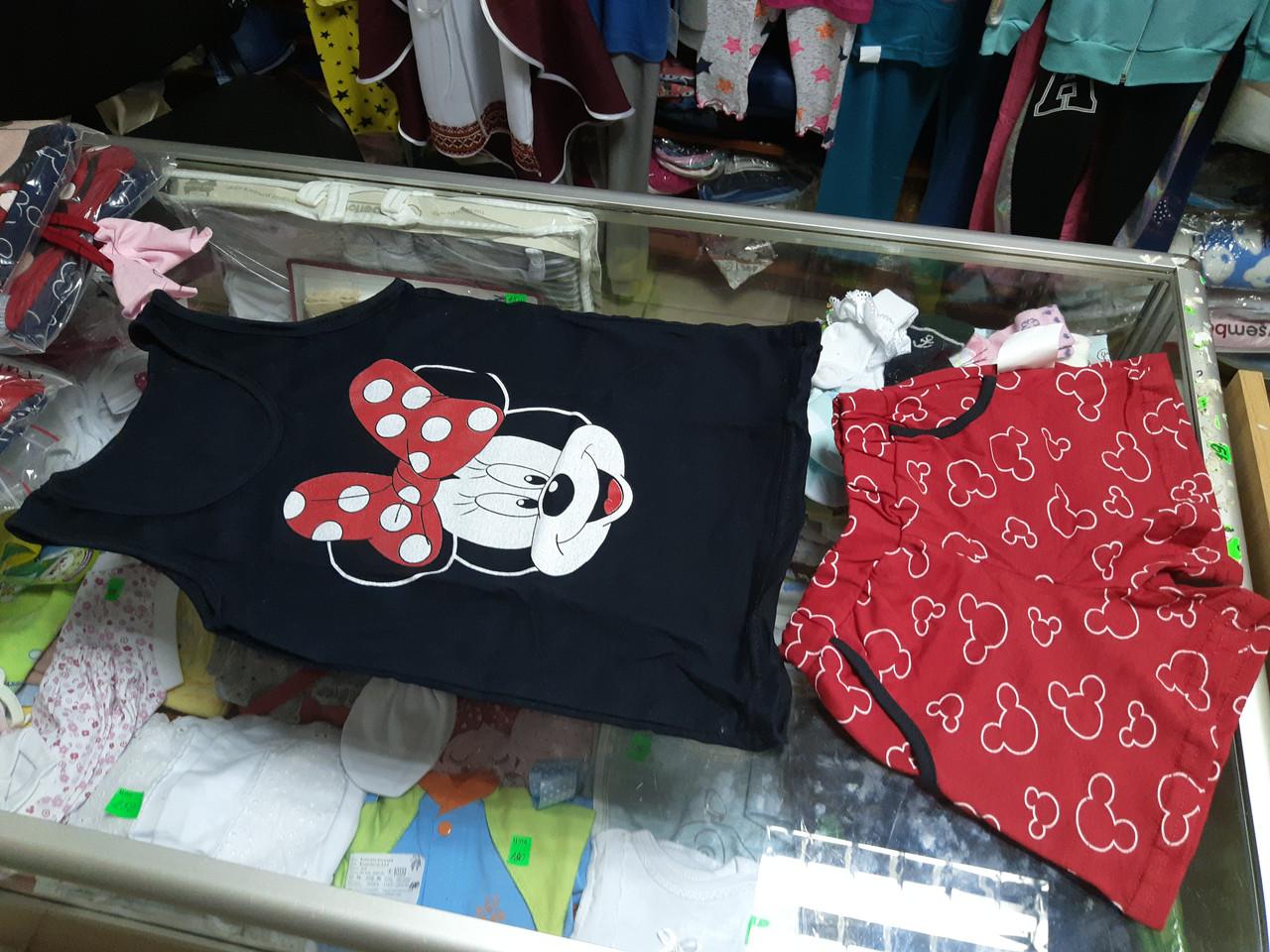 Пижама детская летняя Майка и шорты  р.134 - 158