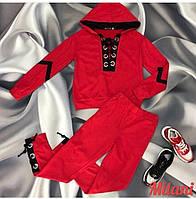Женский спортивный костюм 0112 весна-осень большой размер (50-52,54-56) (цвет красный) СП