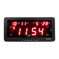 Часы с календарем и погодой Led Digital Clock CX-2158