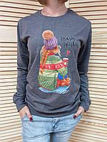Батник женский весна-осень Хит сезона 2019 Девушка в шапке с кофе графит Турция оптом