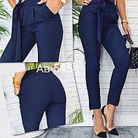 Жіночі брюки жіночі з пояском Синій