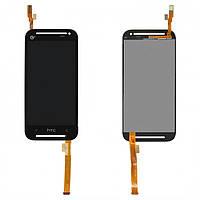 Дисплейный модуль (дисплей + сенсор) для HTC Desire 608t, черный, оригинал
