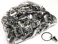 Зажимы для штор стальные (100шт) + металлические кольца D=30мм, фото 1