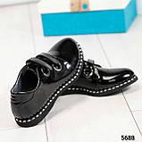 Стильные лаковые женские туфли с люверсами, фото 8