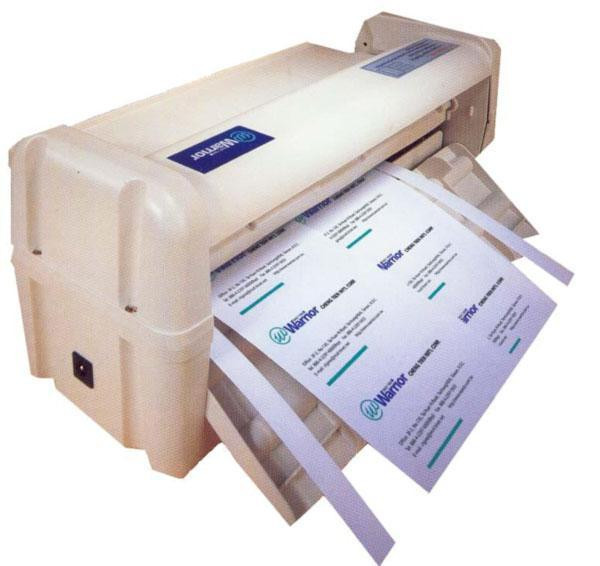 Нарезчик визиток 21171 С, электрический, размер визиток 90х54 мм, плотность материала 300 г/м²