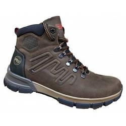 Зимние мужские ботинки  кожаные   40-45 коричневый крейзи