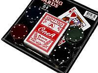 Набор для игры в покер карты + 24 фишки