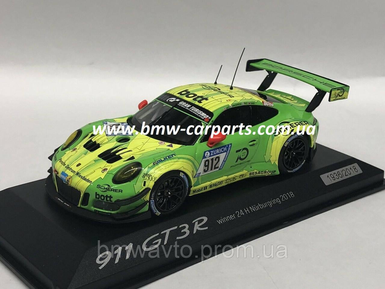 Модель автомобиля Porsche 911 GT3 R №912, Winner 24h Nurburgring