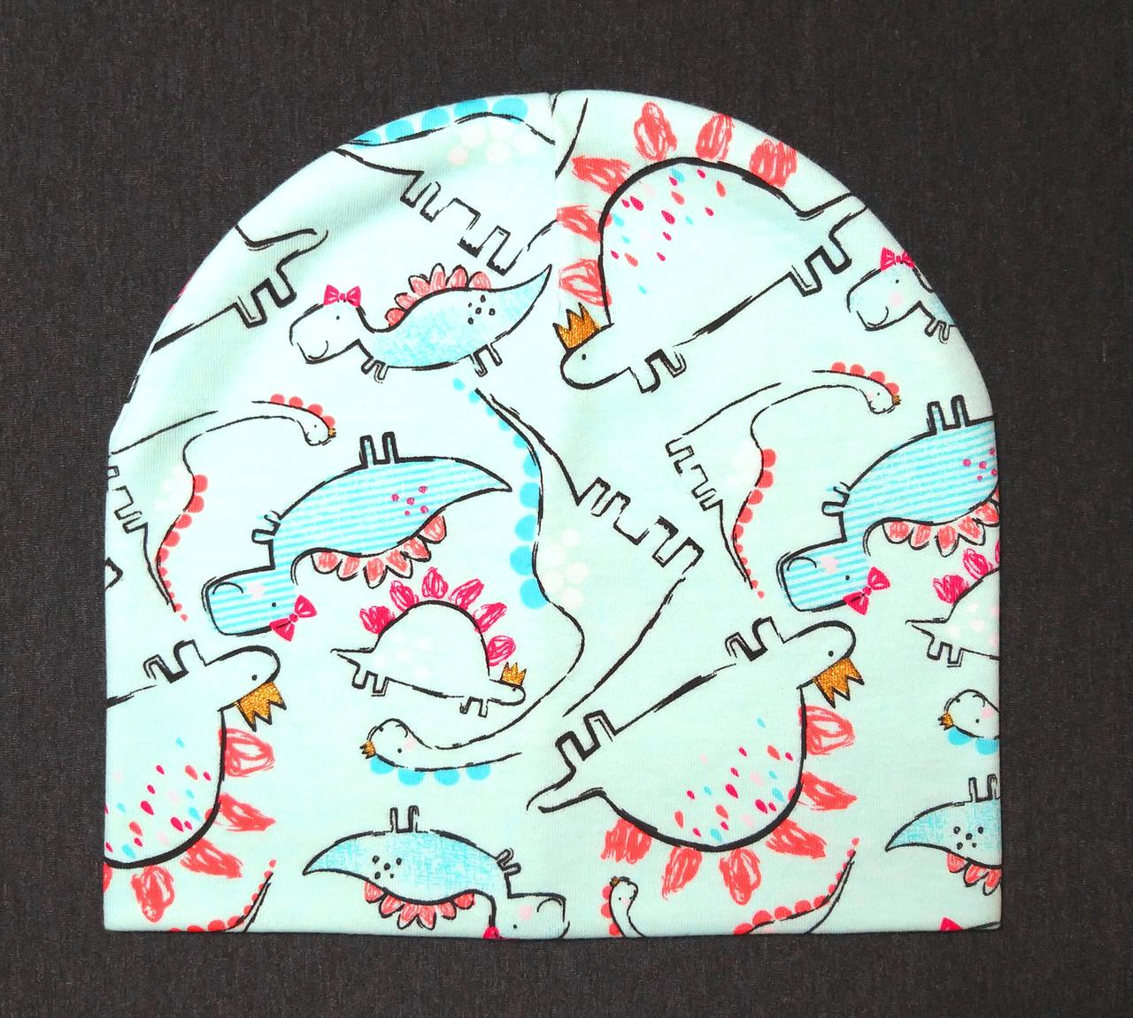 "Детская шапка ""Dino mint"""