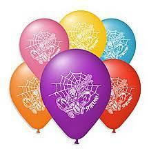 """Набор воздушных шариков""""Spider Man""""  Человек Паук  25 см (10"""") Gemar"""" (Италия) 10 штук"""