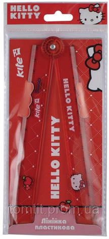 "Линейка пластиковая ""Hello Kitty"", 30 см (раскладная), фото 2"