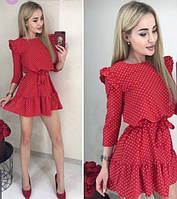 Платье женское в мелкий горошек