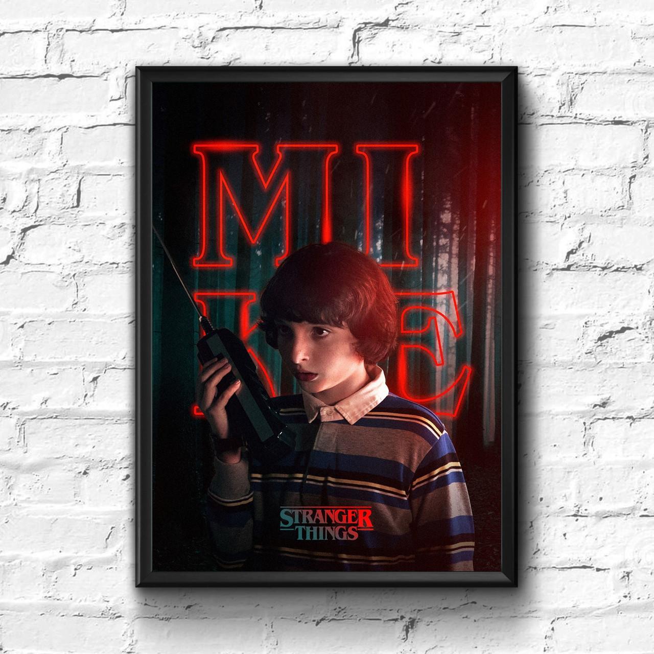 Постер с рамкой Stranger Things #2