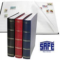 Кляссер SAFE - альбом для марок - 60 страниц - А4 - белые листы - синяя обложка