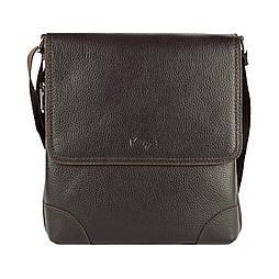 Чоловіча сумка через плече-шкіряна Karya 0720-39 месенджер коричневий