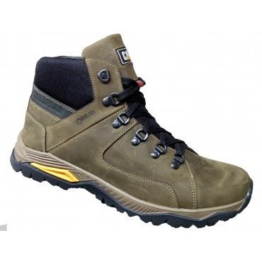Спортивные зимнее кожаные ботинки мужские   39-46 оливка  крейзи