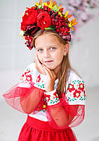 Плаття вишите Українські квіти (6-12 років), фото 1