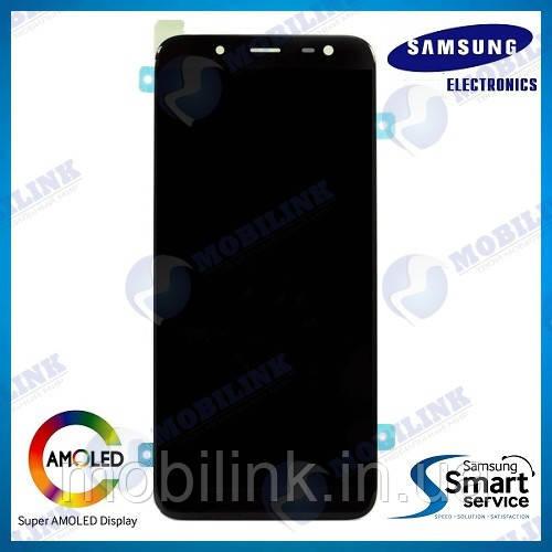 Дисплей на Samsung J600 Galaxy J6 Чёрный(Black),GH97-21931A, Super AMOLED!