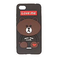 Чехол для Xiaomi Redmi 6a Bear Love Me Black
