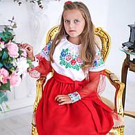 Плаття вишите Українські троянди (6-12 років), фото 1