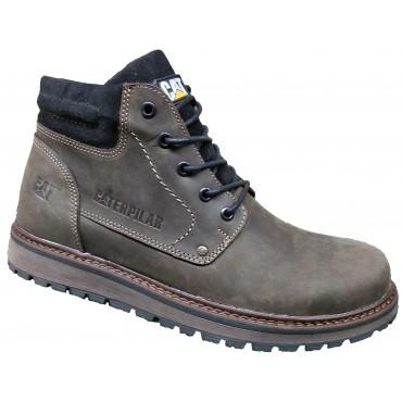 Зимние мужские ботинки кожа классические   40-45 коричневый крейзи