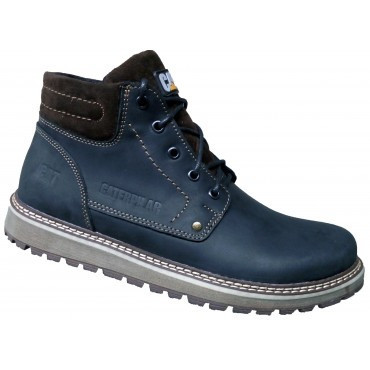 Мужские ботинки зима кожаные   39-46 синий крейзи