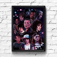 Постер с рамкой Stranger Things #12