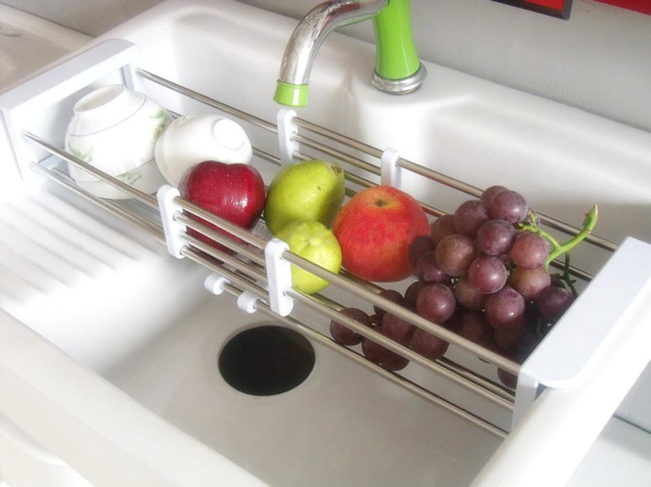 Сушка для посуды на раковину Shui Lan, полка - сушилка для овощей и фруктов