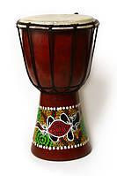 Джембе (там-там) цветной, Индонезия 25 см (тт-21)