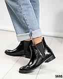 Стильные кожаные женские ботинки Челси, фото 5