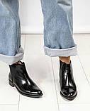 Стильные кожаные женские ботинки Челси, фото 2