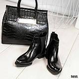 Стильные кожаные женские ботинки Челси, фото 7