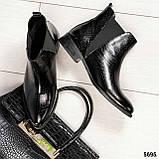 Стильные кожаные женские ботинки Челси, фото 8