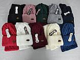 М 5024 Комплект жіночий-підлітковий: шапка+баф (10-70 років), марс, розмір вільний, фото 2