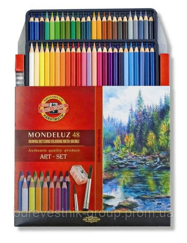 Художественные цветные акварельные карандаши «Mondeluz» Koh-i-Noor 48 цв.