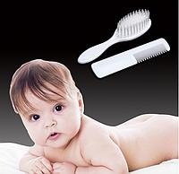 Набор расчесок для новорожденного, мягкая щетка и гребешок.