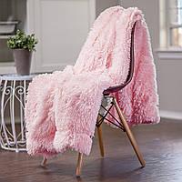 """Плед """"Luxury""""  Искусственный мех Евро размер 220х240см Розовый, фото 1"""
