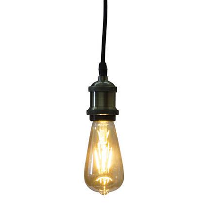 Светодиодная ретро лампа Filament 6w E27 Rustic Vintage-6 Horoz Electric, фото 2